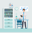 researcher at work male lab vector image vector image