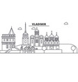 russia vladimir architecture line skyline vector image vector image