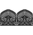 russian ornament wibird vector image vector image