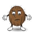 sad coconut vector image