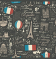 seamless pattern on theme france vector image vector image