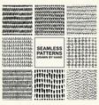 set hand drawn seamless pattern vector image vector image