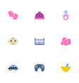 set of child icons flat style symbols with nip vector image