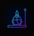 spirit lamp outline modern colorful icon or vector image