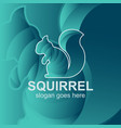 squirrel logo design template use for icon brand vector image