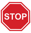 stop sign design vector image vector image