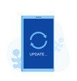 system software update and upgrade concept vector image vector image