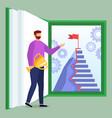 teacher as knowledge world provider online school vector image