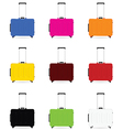 travel baggage color vector image vector image