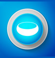 white bowl icon isolated on blue background vector image vector image
