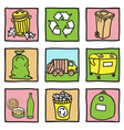 Set of recycling icons vector image