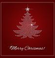 Rhinestone Christmas Template vector image