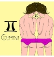 Zodiac sign of Gemini EPS10 vector image