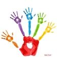 Colourful handprint paint vector image