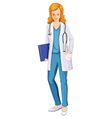 A female doctor vector image vector image