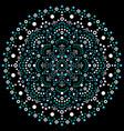 aboriginal dot art mandala retro design vector image vector image