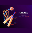 abstract of cricket sport from vector image