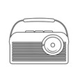 abstract old radio vector image vector image