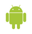 android emblem green robot on white bg