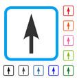 arrow axis y framed icon vector image vector image