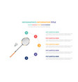 badminton infographic template concept with five vector image vector image