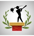 Baseball design sport icon flat vector image