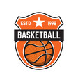 basketball sport emblems design element vector image vector image