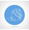 Blue icon for sea fish vector image vector image