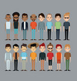 cartoon people men together culture ethnic image vector image
