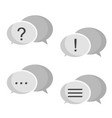 chat symbol with text sign question exclamation vector image