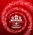 christmas wishes with magic dust luxury glitter vector image