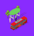 city public transport trolley 3d isometric view vector image vector image