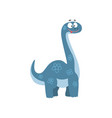 cute cartoon brontosaurus dinosaur prehistoric vector image