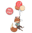 cute cartoon flying fox vector image vector image
