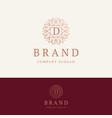 d brand logo vector image