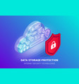 data storage protection banner vector image vector image