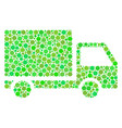 delivery lorry composition of dots vector image