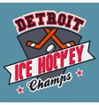 Detroit ice hockey champs vector image