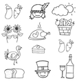 Doodle of thanksgiving hand draw object vector image vector image