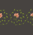 embroidery floral border pattern vector image