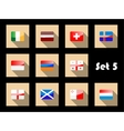 Flag icons set vector image vector image