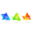 gradient color triangle banners with halftone vector image vector image