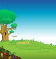 grassy lawn tree vector image vector image