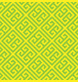 greek key seamless pattern background in green and vector image