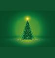 green christmas vector image vector image