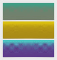 halftone square pattern horizontal banner set vector image vector image