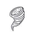 hand drawn doodle tornado swirl vector image vector image