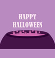 happy halloween witches cauldron magic potion vector image