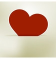 Heart label from paper Valentines day card EPS8 vector image vector image