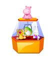 icon toy machine vector image vector image